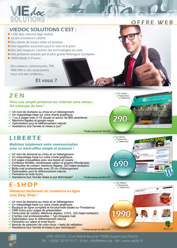 Gamme Viedoc Solutions de sites internets