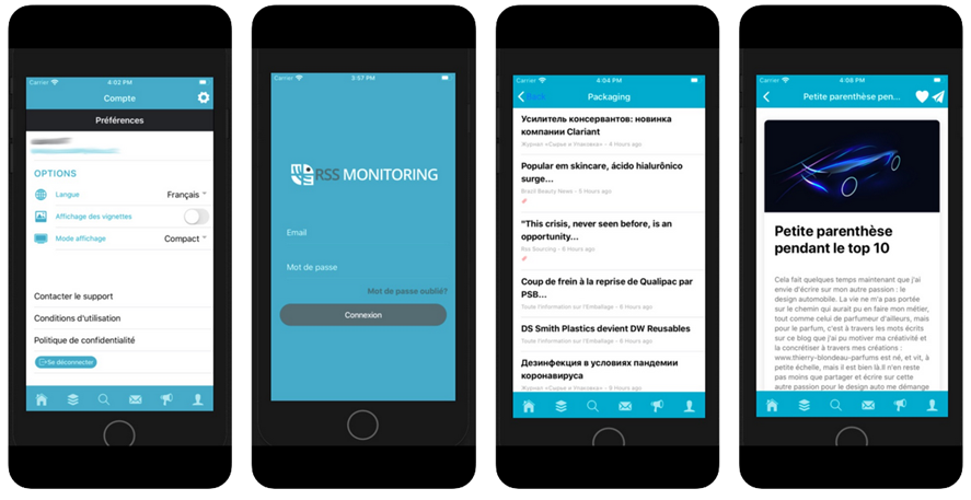 Application_mobile RSS_monitoring